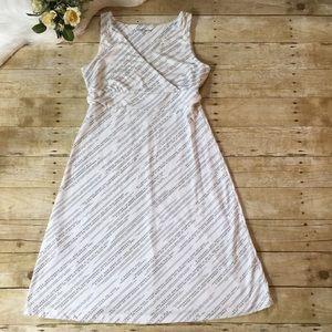 Eddie Bauer White Leaf Dress Size Medium